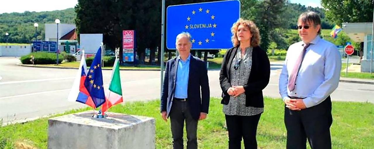 Die Grenze zwischen Slowenien und Italien wieder offen
